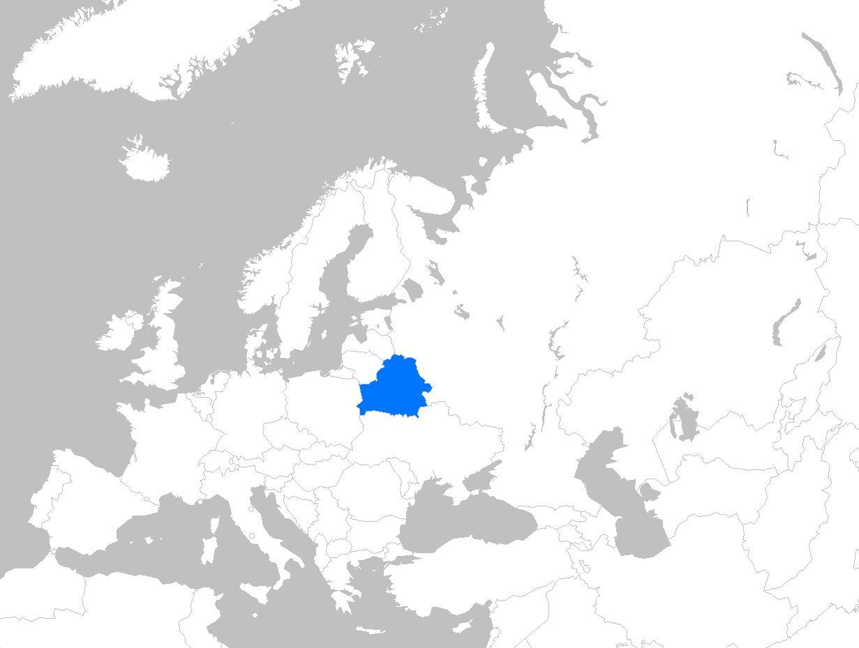 Valko Venaja Kartta Euroopan Kartta Valko Venaja Eurooppa Ita