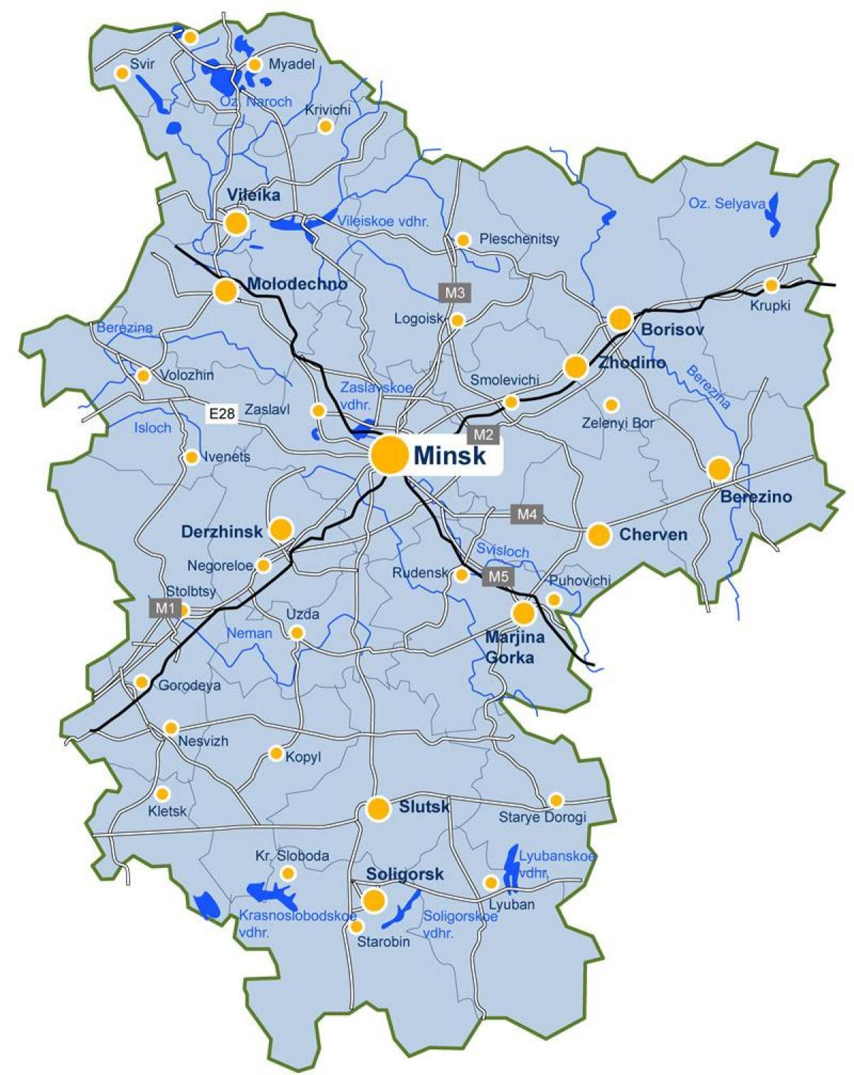 Minsk Valko Venaja Kartta Minsk Kartta Valko Venaja Ita